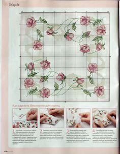 Rose rosa - Angolo tovaglia