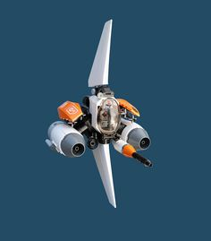 spaceship 3d rendering