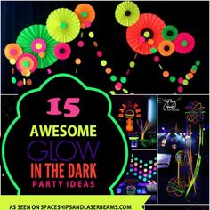 Need a cool boy birthday party theme for your tween? Have fun with these 15 bright glow-in-the-dark party ideas! https://www.djs.durban