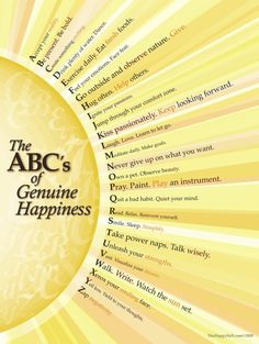 The ABC's of Genuine Happiness :)