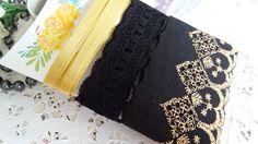 Kit de Aviamentos Encantos preto/dourado