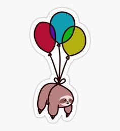 Balloon Sloth Sticker