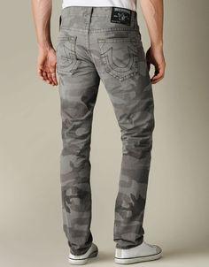 Mens Geno Camo Jean - (Abn Deringer) | True Religion Brand Jeans
