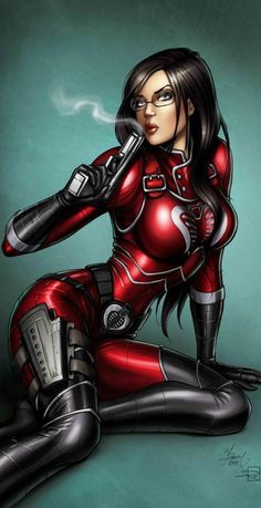The Baroness does not always wear a black catsuit. Sometimes she wears a red catsuit. The Baroness by Dawn McTeigue
