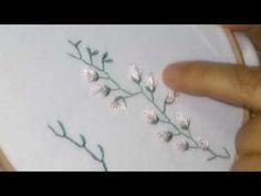 ♥Bordado a mao ponto caseado vazado -hand embroidery ♥ #finalização - YouTube