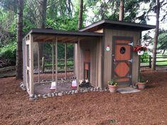 add a longer open air run and you've got a great coop design!