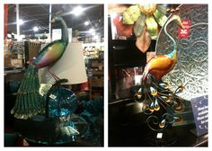 Pier 1 Perched Peacock and Metal Peacock with Stand ~ another must have!