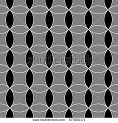Seamless surface pattern design with interlocking circles ornament. Oriental art composition.