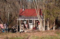 Off-grid shack in Keezletown, Virginia.