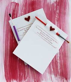 Secret message Valentine's with all you need to reveal the message included from Small+Friendly