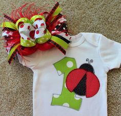 Lady Bug First Birthday Outfit by sassysistabowtique on Etsy, $70.00