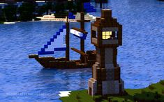 I got the idea for the framing of this image from a dinner plate I have. Minecraft Ships, Minecraft Bridges, Easy Minecraft Houses, Minecraft Castle, Minecraft Plans, Minecraft House Designs, Minecraft Survival, Minecraft Blueprints, Cool Minecraft