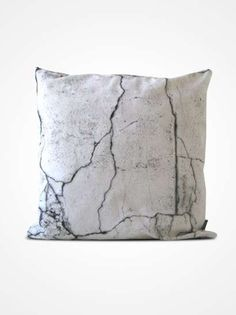Cracks in the wall Throw pillow