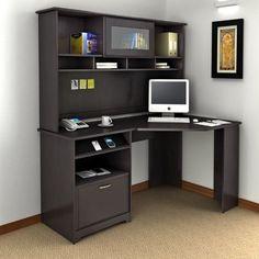 Bush Cabot Corner Computer Desk with Optional Hutch