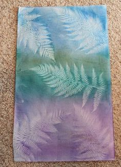 Fern sun printed fabric - with tutorial