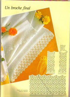 "Photo from album ""кайма"" on Yandex. Filet Crochet, Crochet Borders, Crochet Chart, Love Crochet, Crochet Motif, Beautiful Crochet, Vintage Crochet, Crochet Flowers, Crochet Lace"