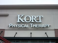 Kort Physical Therapy Channel Letter Sign located in Louisville, KY. Backlit Signage, Channel Letter Signs, Business Signs, Physical Therapy, Physics, Lettering, Projects, Stall Signs, Log Projects