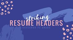 Your resume is the first hurdle you have to get through, so it's important to stand out right at this point in your application.