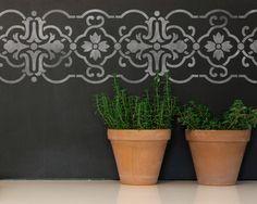 Granada Border Stencil for Wall Stencil Decor and Furniture Stencil Accents