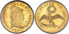1795 $10 13 Leaves MS65 PCGS sold for $881,250.00 in Heritage Auctions ANA U.S. Coins Signature Auction in Chicago, August 7, 2014...Heritage Auctions reported prices realized of $35,910,883 for the U.S. coins portion of the ANA Sale. The highest price coin of the sale was the 1792 Silver Center Cent graded MS64 Brown by PCGS. This early pattern sold for $1,997,500 and it also had the CAC sticker...