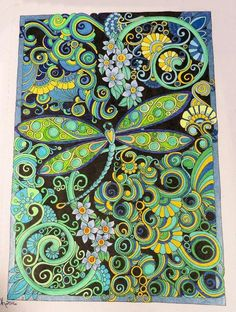 Creative Haven Entangled Dragonflies Coloring Book (Adult Coloring): Dr. Angela Porter:  By KReviews on Apr 21, 2016  I am so glad I pre-ordered this book... it is lovely. I cracked it open and started coloring right away!!!!