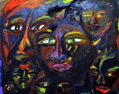 """""""Faces"""" 30 by 24. 2010 Oil on canvas Aisha Jackson $1000.00 askingaisha@gmail.com"""