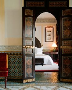 La Mamounia , Marrakech. If you're going to day dream, you might as well aim high. One of the more legendary hotels in the world, in 20 acres with a 200 year old garden - loved by Winston Churchill, Rolling Stones, and Yves Saint Laurent.