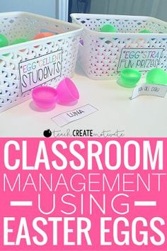 Use easter eggs for a fun classroom management strategy with this freebie!