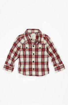 Peek 'James' #Western Shirt (Infant) #plaid