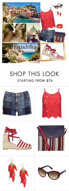 """""""Step into Summer: Espadrilles - Walking for Italy"""" by selene-cinzia ❤ liked on Polyvore featuring J Brand, Alice + Olivia, Castañer, Fiorelli, Kate Spade, Dsquared2, Tory Burch and espadrilles"""