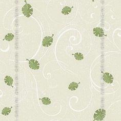 Papel de parede Decoração Infantil Folhas Origini 27-10, Wallpaper, Importado, Lavável, Superfície lisa, Verde, Bege e Branco