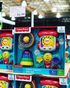 """048d8f58ce2 COSTCO DEALS on Instagram  """"👶🏻Love these classic  fisherprice baby   infant  toys! This  giftset is only 16.99  costcodeals  costco   fisherprice"""""""