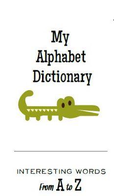 Classroom Freebies: Alphabet Dictionary