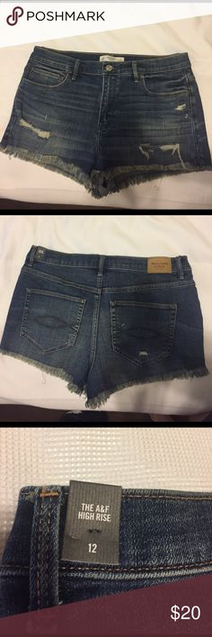Abercrombie and Fitch Blue jean cutoff shorts Size 12 Abercrombie & Fitch Shorts Jean Shorts