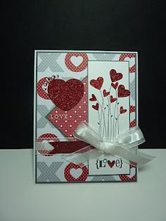 Great use of retired Valentine Defined set - love the punched hearts at the tips of the stems, Thanks Joan