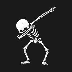 Dabbing Skeleton Shirt Dab Hip Hop Skull Dabbin White - Top 500 Best Tattoo Ideas And Designs For Men and Women Le Dab, Silkscreen, Skeleton Shirt, Skeleton Love, Totenkopf Tattoos, Illustration, Silhouette, Skull And Bones, Vaporwave