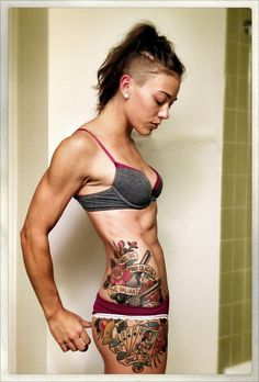Another lady I love! ♥♥ Petite Fi! She rocks and she motivates. Her tats are awesome too! Instagram and twitter