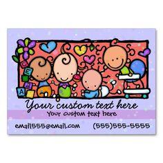 Babysitting Day Care Child CarePurple Business Card