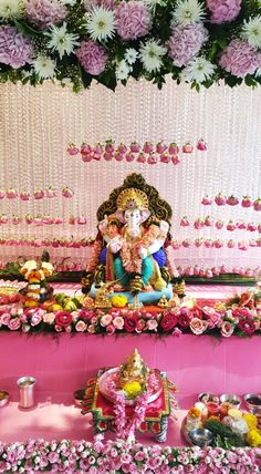 Flower Decorations, Table Decorations, Ganesh Idol, Luxury Life, Wallpaper, Flowers, Home Decor, Floral Decorations, Luxury Living