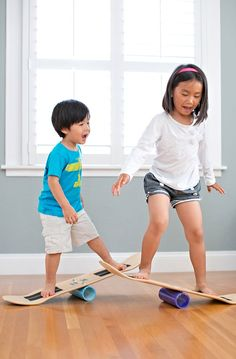 A skate balance board - easy to make and enjoyable for kids to learn about agility and balance!