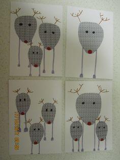Poro joulukortteja.  ( porokortti, porokortit, joulukortit, kortti kortteja kortit joulukortti )
