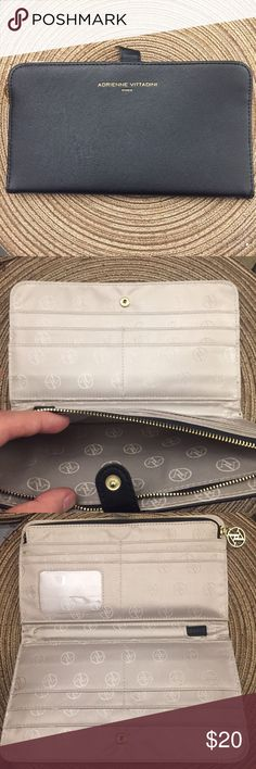 Adrienne Vittadini Portfolio Wallet  Brand new Black Adrienne Vittadini Portfolio Wallet!✨ It looks very professional and has many storage spaces! It's also conveniently thin!   It has no tags, but has never been used and has been in storage for a month or two now! I'm open to any good offers! Adrienne Vittadini Bags Wallets