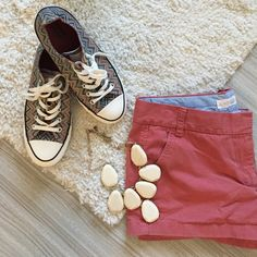 """J. Crew shorts J. Crew Chino shorts in weathered red. Belt loops and 3 pockets. 3"""" inseam. 100 percent cotton. Machine wash. Shorts only.  Please make all offers through the offer button  ✨10%✨off with bundle!  Fast Shipping Non-Smoking No trades/PayPal Open to fair offers Instagram: laurentopor Tumblr: nearlynewbylo  ✨ Happy Poshing ✨ J. Crew Jeans"""