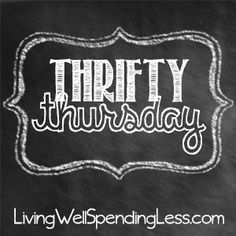 Thrifty Thursday #20 is live at LivingWellSpendingLess.com!  Find lots & lots of awesome budget friendly crafts, recipes, household tips, & money-saving ideas.  (Bloggers are welcome to link up too!)