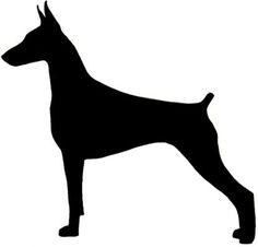 doberman silhouette source http