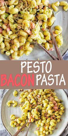 Pesto Pasta Recipes, Bacon Pasta, Risotto Recipes, Bacon Recipes, Drink Recipes, Savoury Recipes, Easy Main Course Recipes, Side Dish Recipes, Easy Dinner Recipes