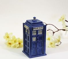 Made To Order: TARDIS Ceramic Miniature. $45.00, via Etsy.