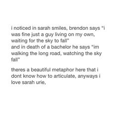 I love Sarah Urie and nothing else matters