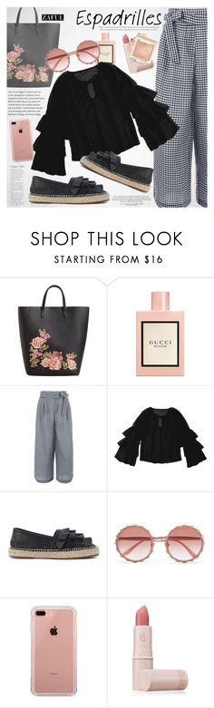 """Step into Summer: Espadrilles"" by vanjazivadinovic ❤ liked on Polyvore featuring MANGO, Gucci, Chie Mihara, Dolce&Gabbana, Belkin, Lipstick Queen, espadrilles, polyvoreeditorial and zaful"