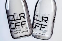 CLR CFF: Someone has invented the world's first colourless coffee drink